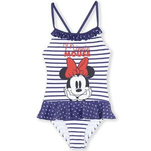 SIZE 1 TO 5 BNWT DISNEY MINNIE MOUSE GIRLS SWIMMING COSTUMES SET SWIMMERS