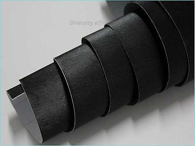 BLACK BRUSHED ALUMINIUM FINISH VINYL CAR WRAP PHONES GADGET AIR BUBBLE FREE