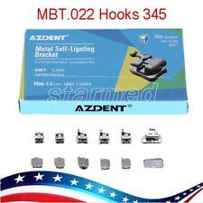 Azdent Dental Orthodontic Metal Self Ligating Brackets Braces Mbt022 Hook 3 4 5