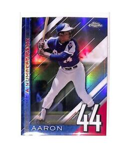 2020 Topps Chrome Update A Numbers Game Refractor #NGC-25 Hank Aaron NM-M ID:843