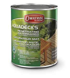 aquadecks miel 5l 25 98 l owatrol holzschutz holz l impr gnierung holzs ttiger ebay. Black Bedroom Furniture Sets. Home Design Ideas