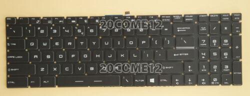 NEW For MSI PE60 6QE PE70 2QD PE70 2QE Gaming keyboard US NO FRAME White backlit