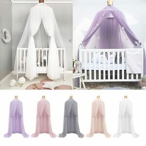 Kids-Baby-Bed-Canopy-Bedcover-Mosquito-Net-Curtain-Bedding-Dome-Tent-Cotton-New