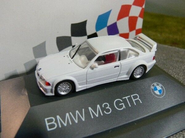 1 87 Herpa Herpa Herpa bmw m3 GTR e36 Weiss PC-box colección 64fa2b