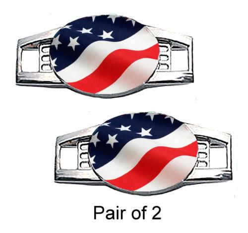 Waving Paracord Charms USA Flag Shoe Charms