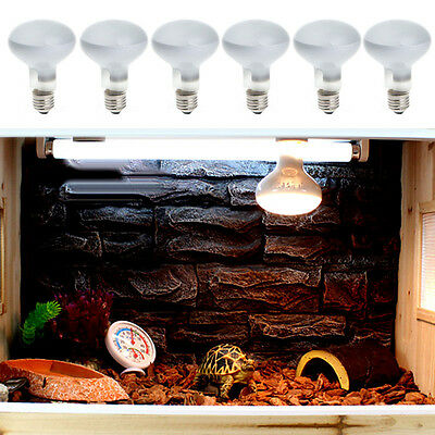 220V 25/40/50/60/75/100W Reptile UVA Poly Sand Light Lamp Bulb Spotlights Warm