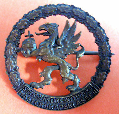 SWEDEN - STOCKHOLM COUNTY SHOOTING FEDERATION MASTER CLASS BRONZE COLOR BADGE