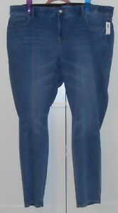 f1400895c62df OLD NAVY ROCKSTAR MED. WASH 24 7 SMOOTH CONTOUR HIGH-RISE JEANS 24 ...
