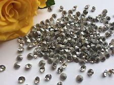 SWAROVSKI Crystal Diamante # 1100 21ss ARGENTO sventato STRASS 4.8 mm Riparazione