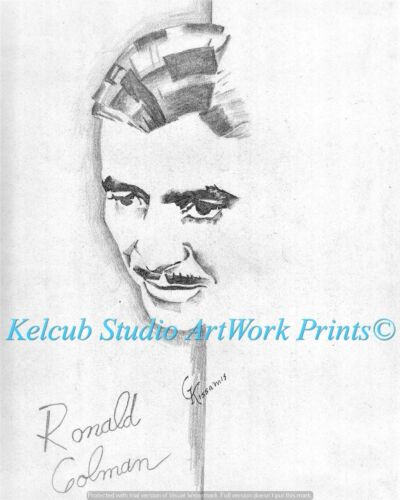 Ronald Colman RARE StKenan Art Chicago Artist Print of 1940 Original