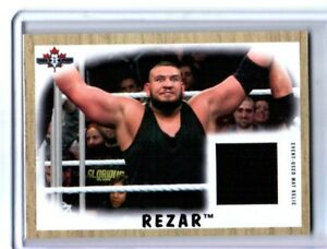 WWE-Rezar-NXT-2017-Topps-Heritage-Event-Used-Mat-Relic-Card-SN-39-of-199