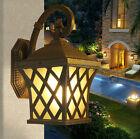 1 PC European Vintage Style Outdoor Single Light Wall Lamp Glass + Aluminum