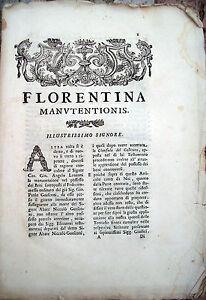 1764-DOCUMENTO-LEGALE-FIORENTINO-FIRENZE-CAUSA-PER-MANUTENZIONE-DI-BENI