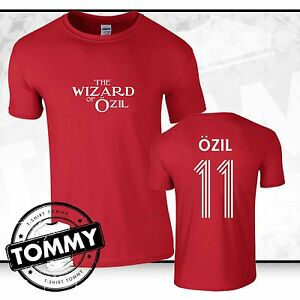 new products 45586 ac5e3 Details about Arsenal Mesut Ozil T-Shirt, Ozil tshirt, Wizard of Ozil AFC  T-Shirt NEW