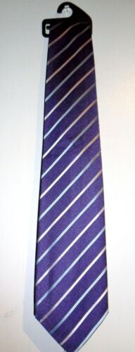 BLUE AND PINK STRIPY BY MARKS /& SPENCER NEW JOB LOT 10 MEN/'S TIES PURPLE