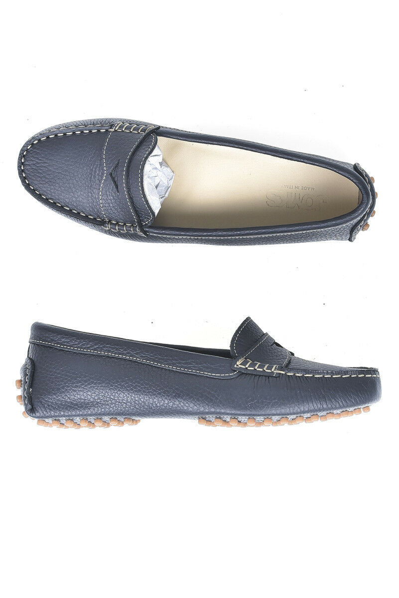 Mocassino Joyks Moccasin Schuhes Pelle MADE 2656 IN ITALY Damenschuhe Blu 2656 MADE 78d6a4