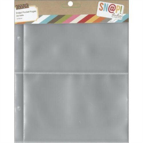 Simple Stories 2003 Snap Pocket Pages For Binders 6 x 8-inch, Multi-colour