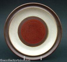 1970's Denby Stoneware Potters Wheel Red Pattern Salad Dessert Plates 21cm - VGC