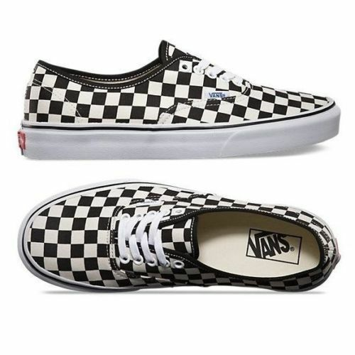 Vans Authentic golden Coast Checkerboard shoes Sneakers Black White