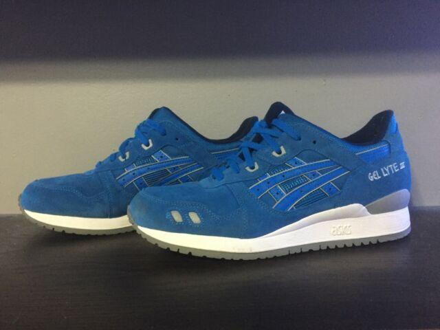 ASICS Gel Lyte III Puddle Pack Blue Athletic Shoes Men's Size 10 (H5U3L)