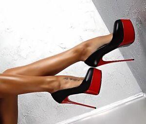 Escarpins-Sexy-Cuir-Vernis-Tres-Haut-Talons-16cm-3-Couleurs-du-34-au-40