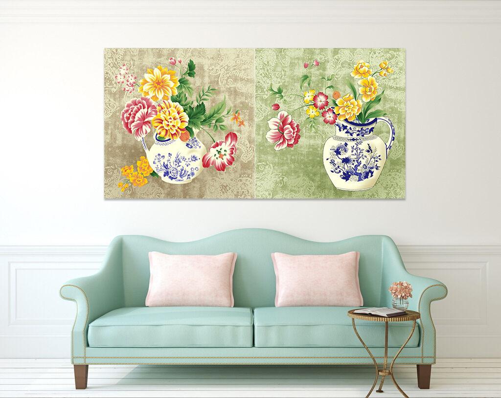 3D Blaumen in vase 572 Fototapeten Wandbild BildTapete AJSTORE DE Lemon