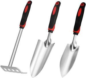 Garden tools set, 3 PCS Cast-iron Heavy Duty Gardening tools