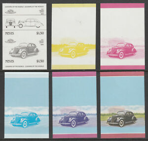Nevis 6094-cars-lincoln Zephyr Set Of Progressive Proofs U/m