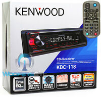 Kenwood Kdc-118 Car Stereo Cd Mp3 Aux Equalizer Remote 200w Amplifier Radio