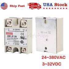 Fotek Ssr 25da 24v 380v 25a 250v Solid State Relay Module 3 32v Dc To Ac