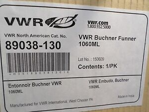 Vwr Ceramic Porcelain 1060ml Buchner Filtering Funnel