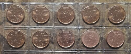 Canada 1990-1999 10 Coin Gem BU Set!!