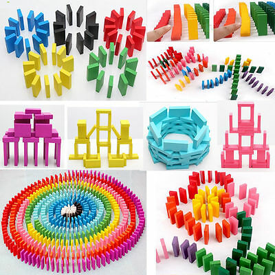100pcs Wooden Domino Set Traditional Strategy Game Kids Baby Educational Toys