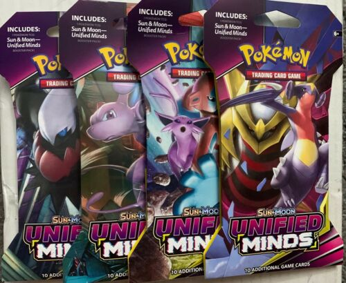 NEW POKEMON TCG SUN /& MOON UNIFIED MINDS BOOSTER PACK 10 CARDS PER PACK SEALED