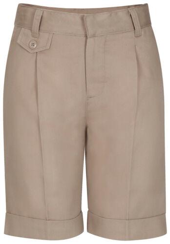 Classroom Uniforms Women/'s Cuffed Leg Single Pleat Front Shorts 52114