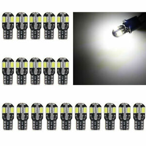 20X-T10-Super-Bright-LED-Car-Canbus-Error-Free-Light-Lamp-Bulb-5730-168-194-W5W