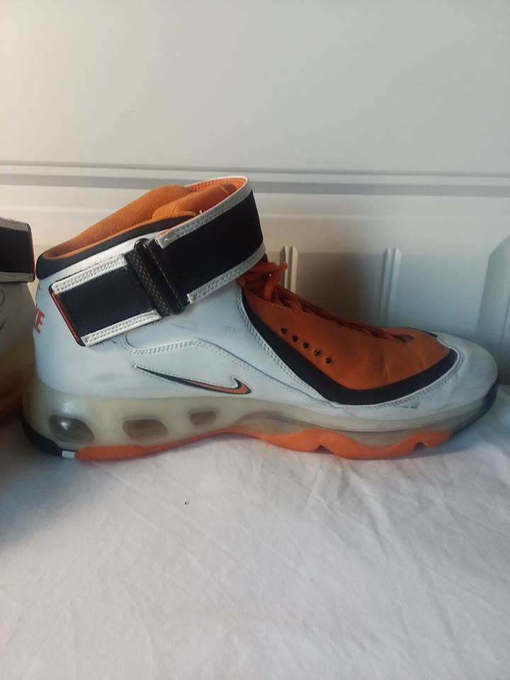 Nike Vtg Men's 13 AIR MAX 360 Basketball shoes 313697-181 orange Black White