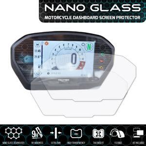 Triumph-Speed-Triple-2018-NANO-GLASS-Tableau-de-Bord-Protecteur-D-039-Ecran-x-2