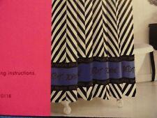 Item 8 New BETSEY JOHNSON Blue White Black CHEVRON Zig Zag Fabric Shower Curtain