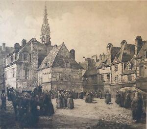 Quinpert-Bretagne-grande-pointe-seche-signee-GEORGES-BALDENWECK-1920-France