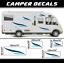 Camper stickers caravan camping car autocollant van challenger frankia hymer LMC