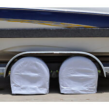"Set of 2 RV Wheel Covers 24""-26.5"" Tire Diameter Waterproof Easy Install Vinyl"