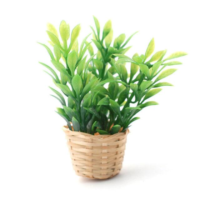 # Dolls House 5927 Plant Bush in Wicker Basket 1:12 for Dollhouse New
