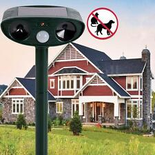 NEW Solar Outdoor Ultrasonic Pest Animal Repeller Garden Cat Dog Fox Repellent