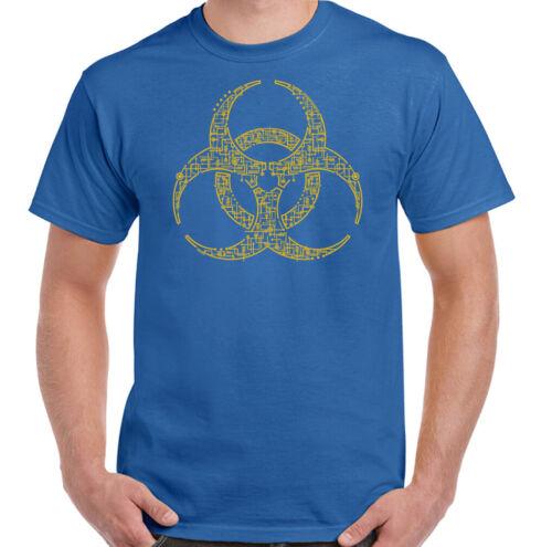 Digital Biohazard T-Shirt Zombie The Walking Dead Chemistry Science Geek Nerd
