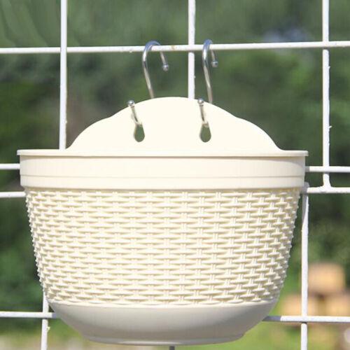 Home Garden Wall-Fence Hanging Planter Plant Flower-Pot Handmade Rattan Basket