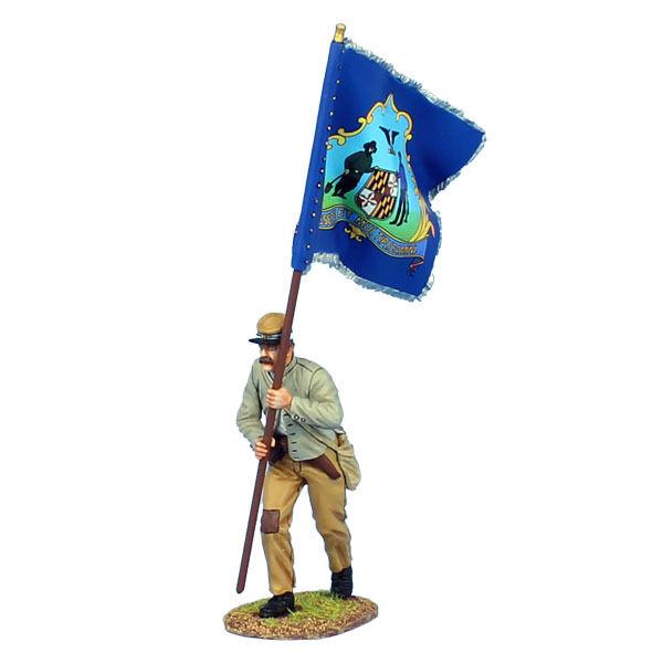 MB019 ACW Standard Bearer - 2 a Marylands regemäntes flagga av First Legion