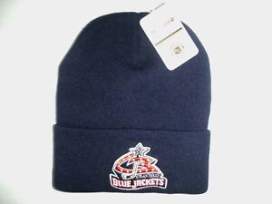 COLUMBUS BLUE JACKETS NHL AUTHENTIC NEW NAVY BEANIE NIT WINTER HAT 1 DAY SHIP!