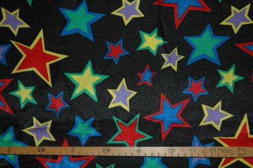 0,5m Karneval Fasching Streifen Sterne Clowns 1,5m breit Satin €9,50//m²