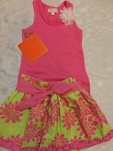 Boutique Girls Floral Ruffle Dress Size 4T NWT